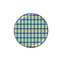 Pattern Grid Squares Texture Hat Clip Ball Marker (4 pack)