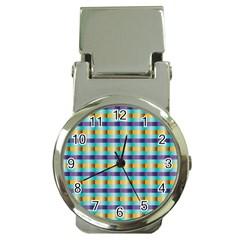 Pattern Grid Squares Texture Money Clip Watches