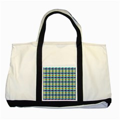 Pattern Grid Squares Texture Two Tone Tote Bag
