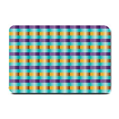 Pattern Grid Squares Texture Small Doormat