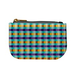 Pattern Grid Squares Texture Mini Coin Purses