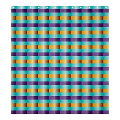 Pattern Grid Squares Texture Shower Curtain 66  x 72  (Large)