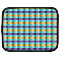 Pattern Grid Squares Texture Netbook Case (XXL)