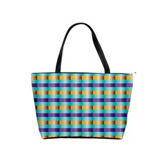 Pattern Grid Squares Texture Shoulder Handbags