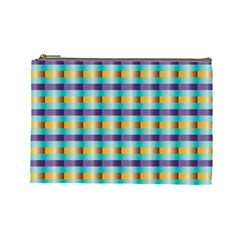 Pattern Grid Squares Texture Cosmetic Bag (large)