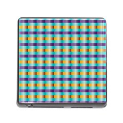 Pattern Grid Squares Texture Memory Card Reader (Square)