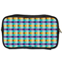 Pattern Grid Squares Texture Toiletries Bags 2-Side