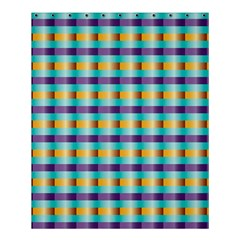 Pattern Grid Squares Texture Shower Curtain 60  X 72  (medium)