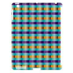Pattern Grid Squares Texture Apple iPad 3/4 Hardshell Case (Compatible with Smart Cover)