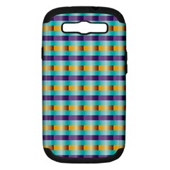 Pattern Grid Squares Texture Samsung Galaxy S III Hardshell Case (PC+Silicone)