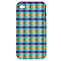Pattern Grid Squares Texture Apple iPhone 4/4S Hardshell Case (PC+Silicone)