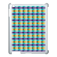 Pattern Grid Squares Texture Apple Ipad 3/4 Case (white)