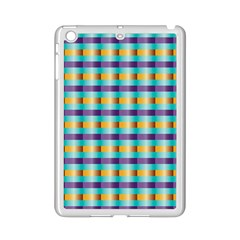 Pattern Grid Squares Texture iPad Mini 2 Enamel Coated Cases