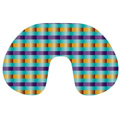Pattern Grid Squares Texture Travel Neck Pillows