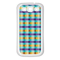 Pattern Grid Squares Texture Samsung Galaxy S3 Back Case (white)