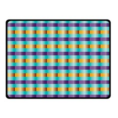 Pattern Grid Squares Texture Double Sided Fleece Blanket (small)