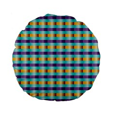 Pattern Grid Squares Texture Standard 15  Premium Flano Round Cushions
