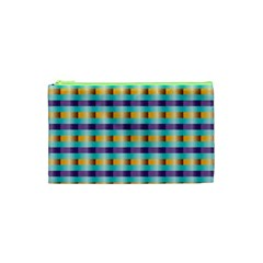 Pattern Grid Squares Texture Cosmetic Bag (XS)
