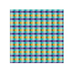 Pattern Grid Squares Texture Small Satin Scarf (Square)