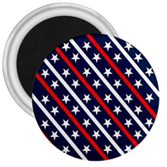 Patriotic Red White Blue Stars 3  Magnets