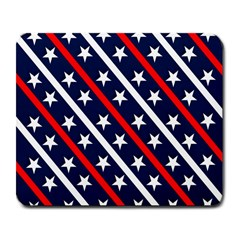 Patriotic Red White Blue Stars Large Mousepads