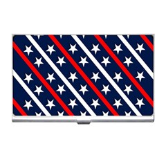 Patriotic Red White Blue Stars Business Card Holders