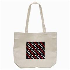 Patriotic Red White Blue Stars Tote Bag (Cream)