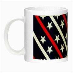Patriotic Red White Blue Stars Night Luminous Mugs