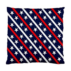 Patriotic Red White Blue Stars Standard Cushion Case (Two Sides)