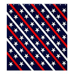 Patriotic Red White Blue Stars Shower Curtain 66  x 72  (Large)