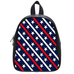 Patriotic Red White Blue Stars School Bags (Small)