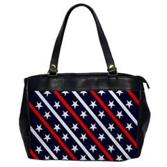 Patriotic Red White Blue Stars Office Handbags