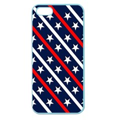 Patriotic Red White Blue Stars Apple Seamless iPhone 5 Case (Color)