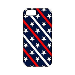 Patriotic Red White Blue Stars Apple iPhone 5 Classic Hardshell Case (PC+Silicone)