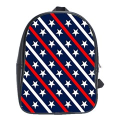 Patriotic Red White Blue Stars School Bags (XL)