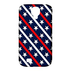 Patriotic Red White Blue Stars Samsung Galaxy S4 Classic Hardshell Case (pc+silicone)
