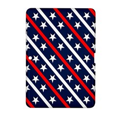 Patriotic Red White Blue Stars Samsung Galaxy Tab 2 (10 1 ) P5100 Hardshell Case