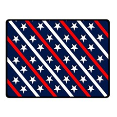 Patriotic Red White Blue Stars Double Sided Fleece Blanket (Small)