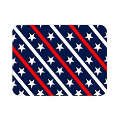 Patriotic Red White Blue Stars Double Sided Flano Blanket (Mini)