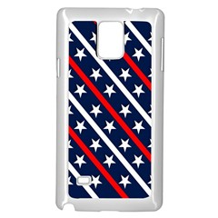 Patriotic Red White Blue Stars Samsung Galaxy Note 4 Case (White)