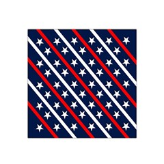 Patriotic Red White Blue Stars Satin Bandana Scarf
