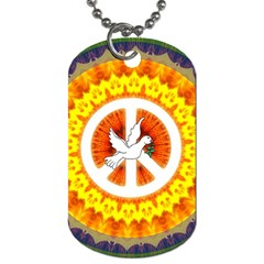 Peace Art Artwork Love Dove Dog Tag (two Sides)