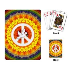 Peace Art Artwork Love Dove Playing Card
