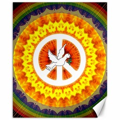 Peace Art Artwork Love Dove Canvas 16  x 20