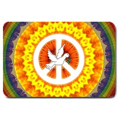Peace Art Artwork Love Dove Large Doormat
