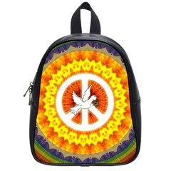 Peace Art Artwork Love Dove School Bags (Small)