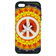 Peace Art Artwork Love Dove Apple iPhone 5 Hardshell Case (PC+Silicone)