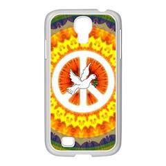 Peace Art Artwork Love Dove Samsung GALAXY S4 I9500/ I9505 Case (White)