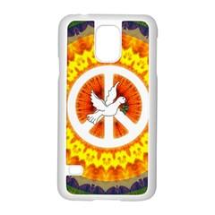 Peace Art Artwork Love Dove Samsung Galaxy S5 Case (White)