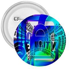 Security Castle Sure Padlock 3  Buttons